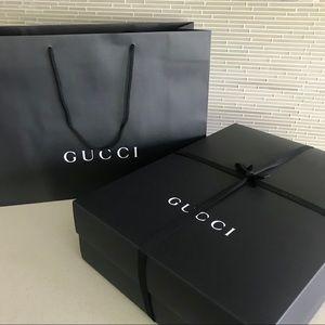 Authentic GUCCI Empty Large Box, Ribbon, Paper Bag
